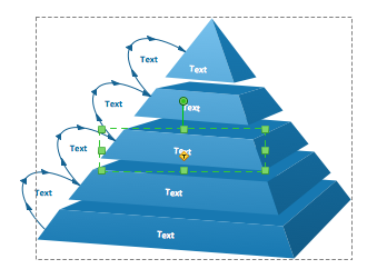 3D pyramid diagram object selection