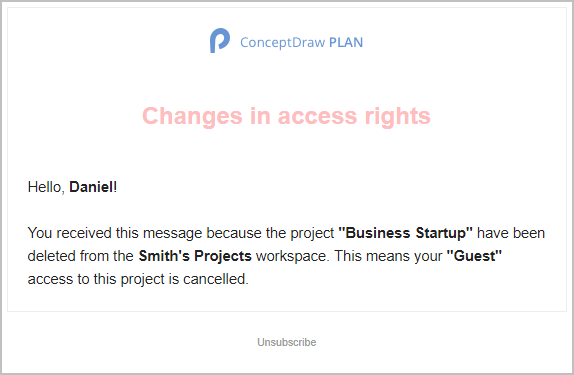 How to Remove a Project from the ConceptDraw PLAN Cloud Storage