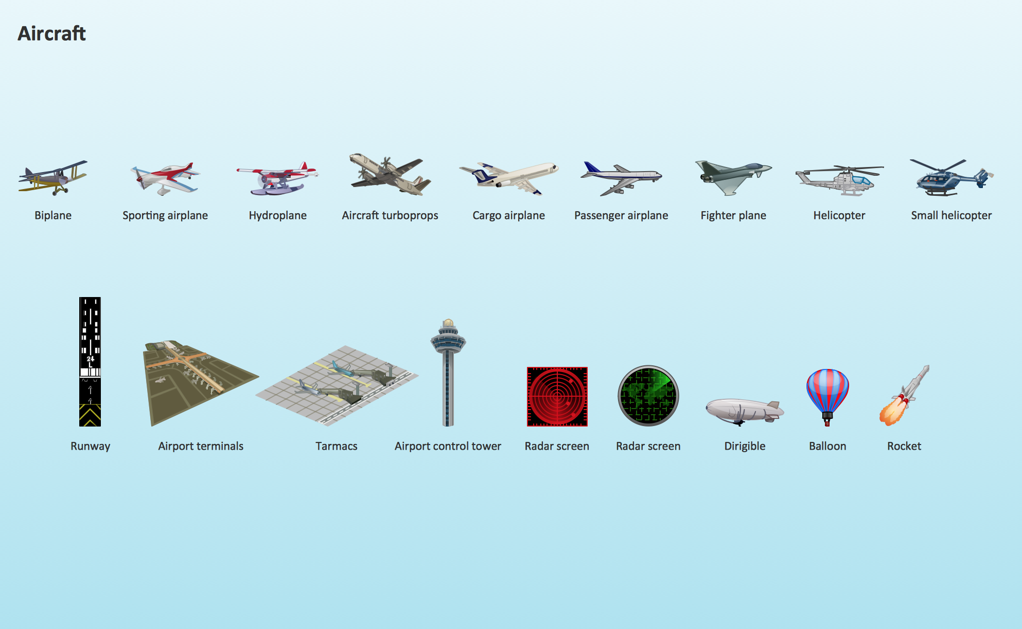 Aircraft design element,  Aircraft  clipart
