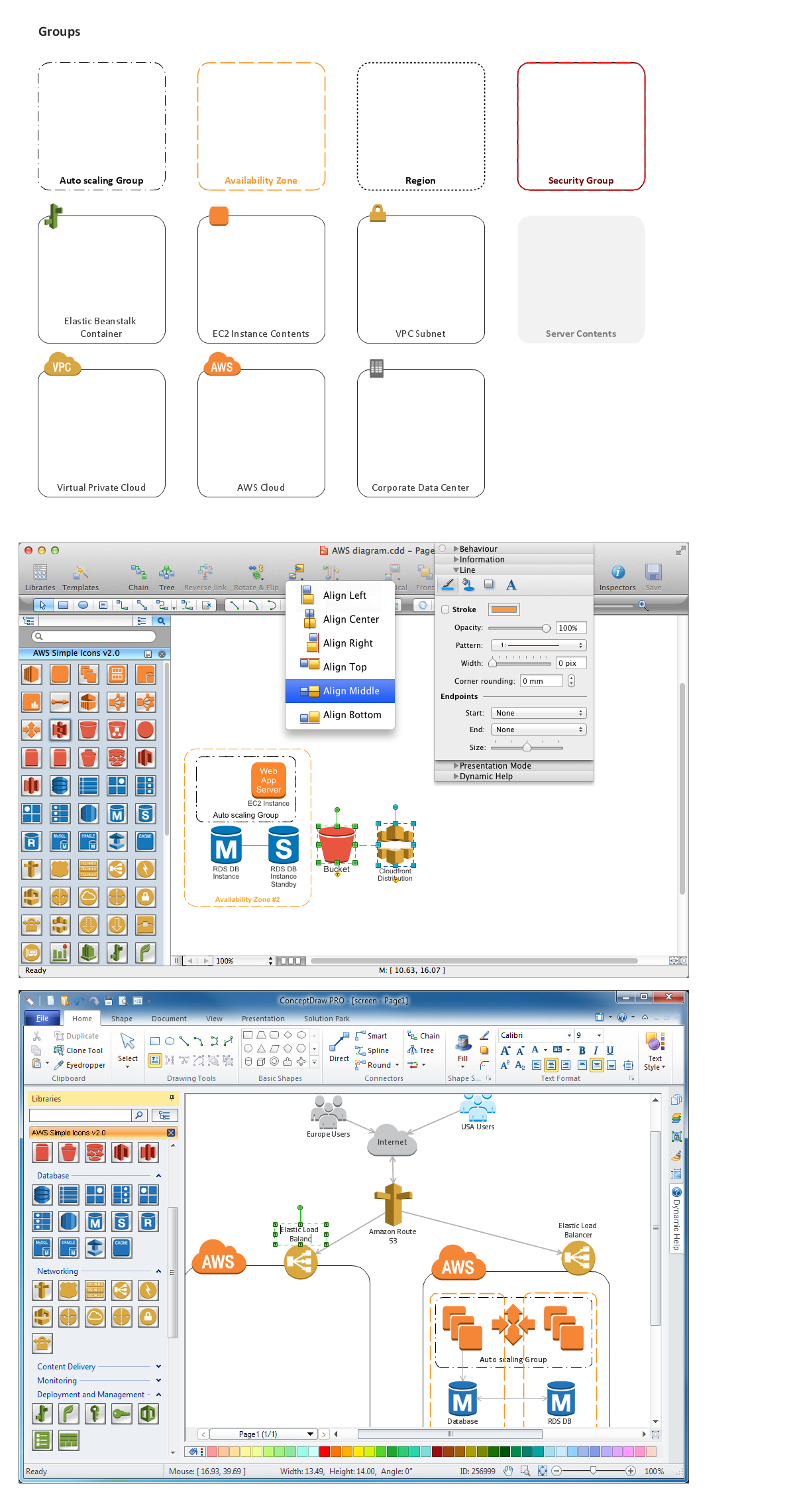 Amazon-Web-Services-AWS-Design-Elements-icons-Groups conceptdraw solution park web tool