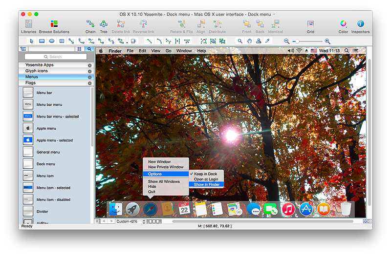 Yosemite GUI Mock-up