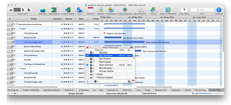 How to Plan and Allocate Resources in Your Project on Mac | Gantt ...