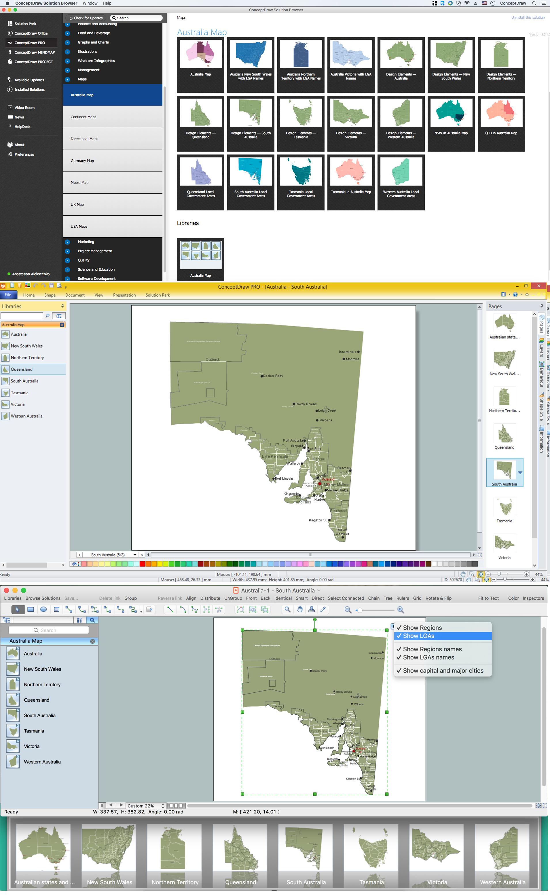 Australia Map — South Australia *
