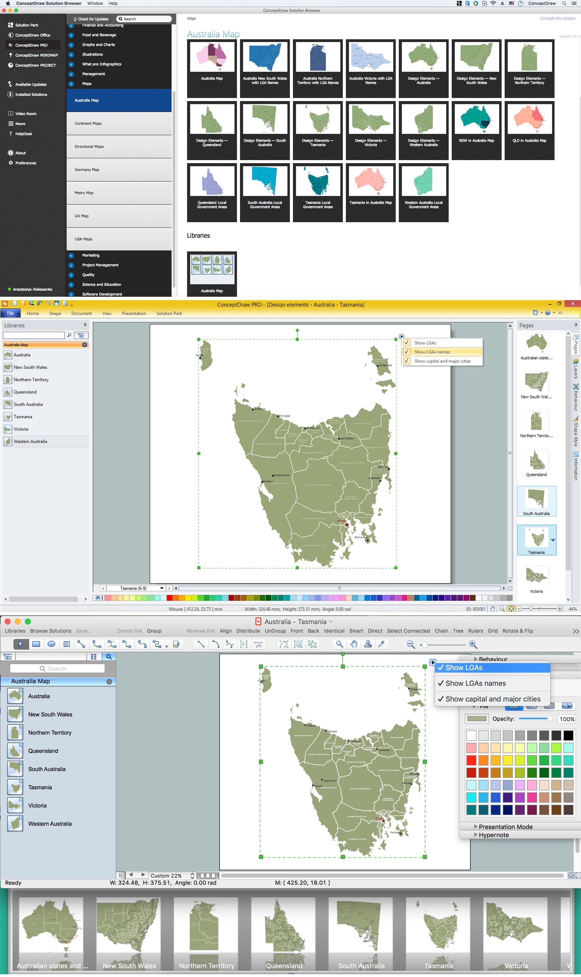 Australia Map - Tasmania