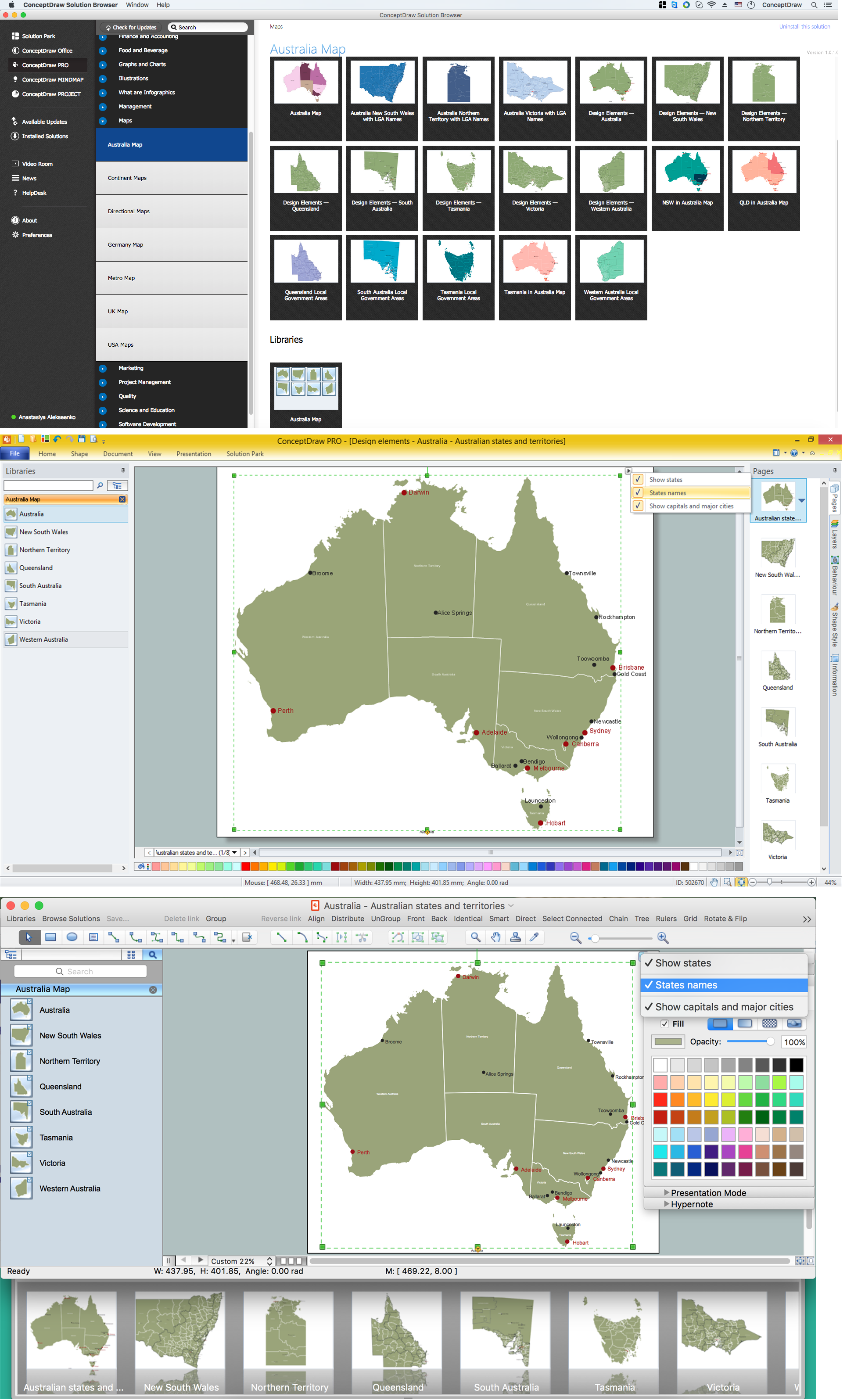Australia Map States And Cities.Australia Map States And Cities