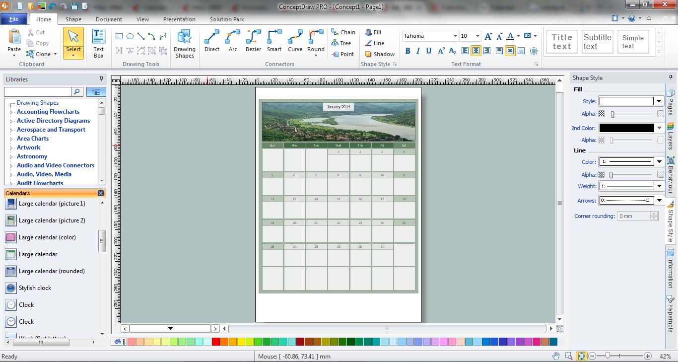 Blank Calendar *