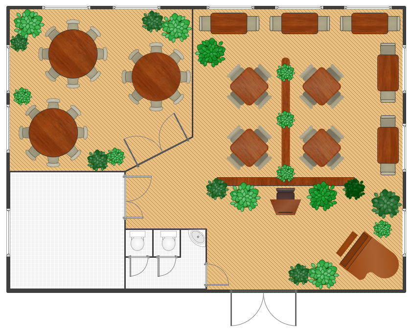 Restaurant Floor Plan *