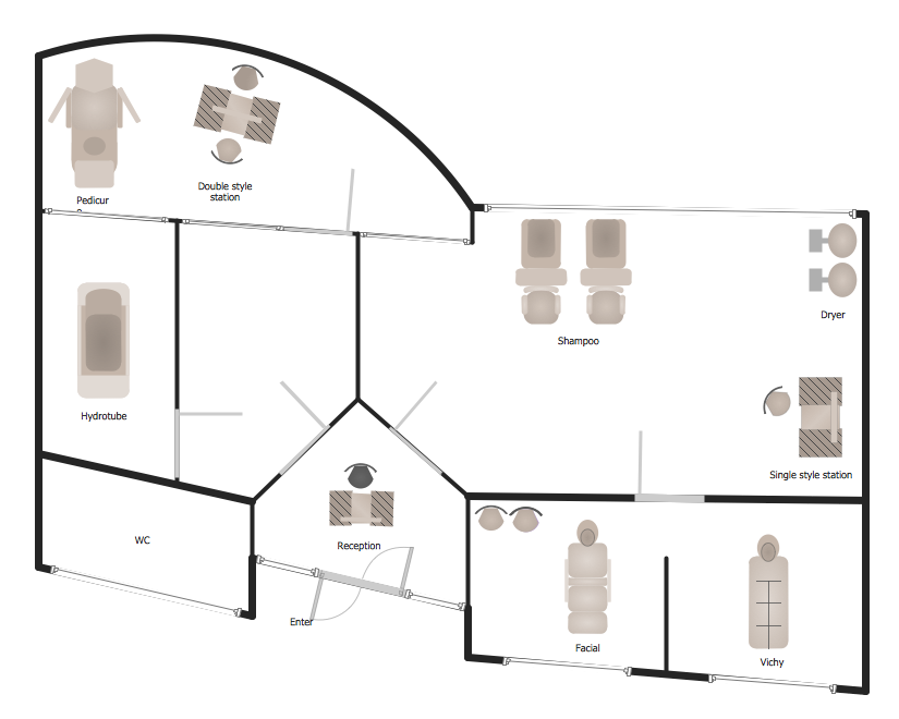 How To Draw A Floor Plan For Spa In Conceptdraw Pro Spa