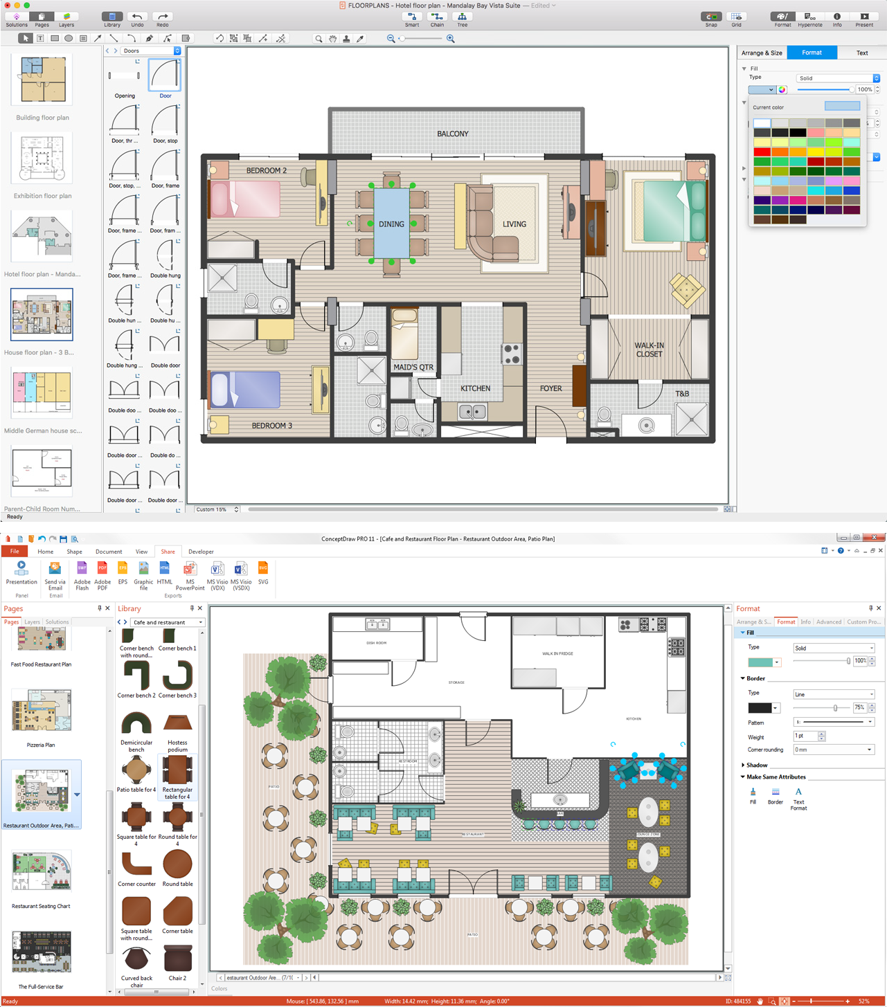 Restaurant Layout Software For Mac : Building plan software examples