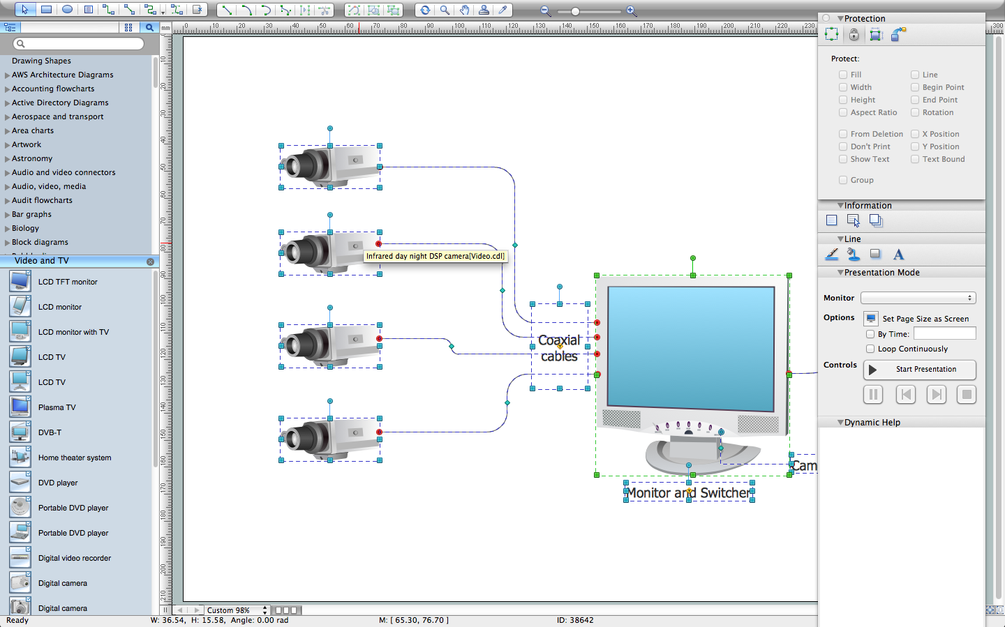 CCTV Network Diagram Software basic cctv system diagram cctv network diagram example cctv how to wire a cctv camera wiring diagram at gsmx.co