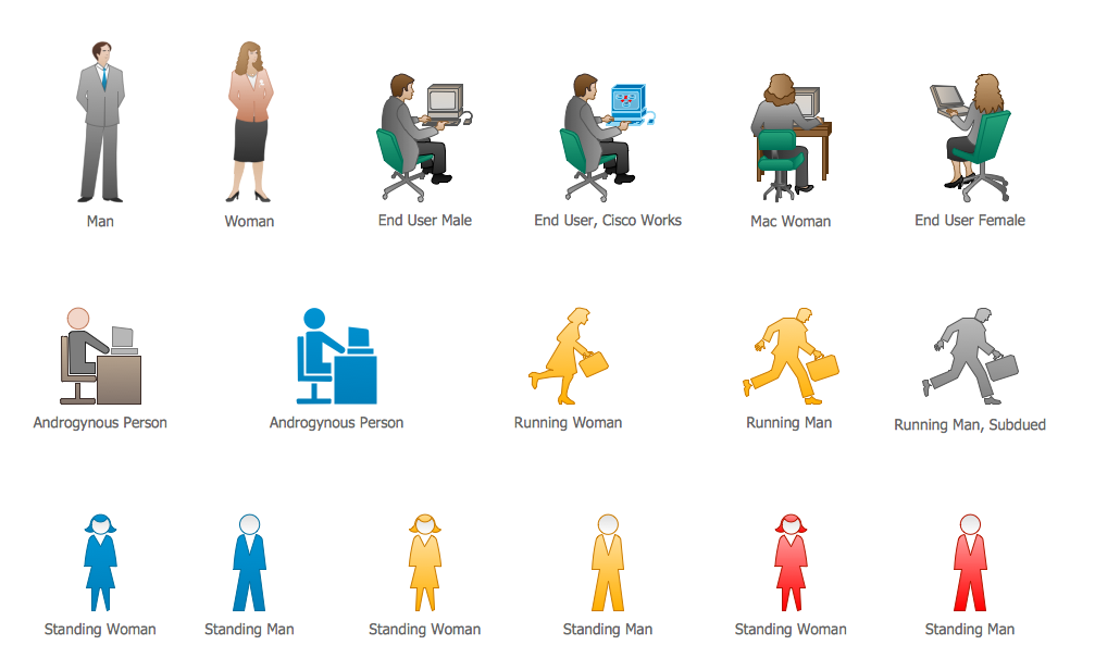 Cisco People. <br>Cisco icons, shapes, stencils and symbols *