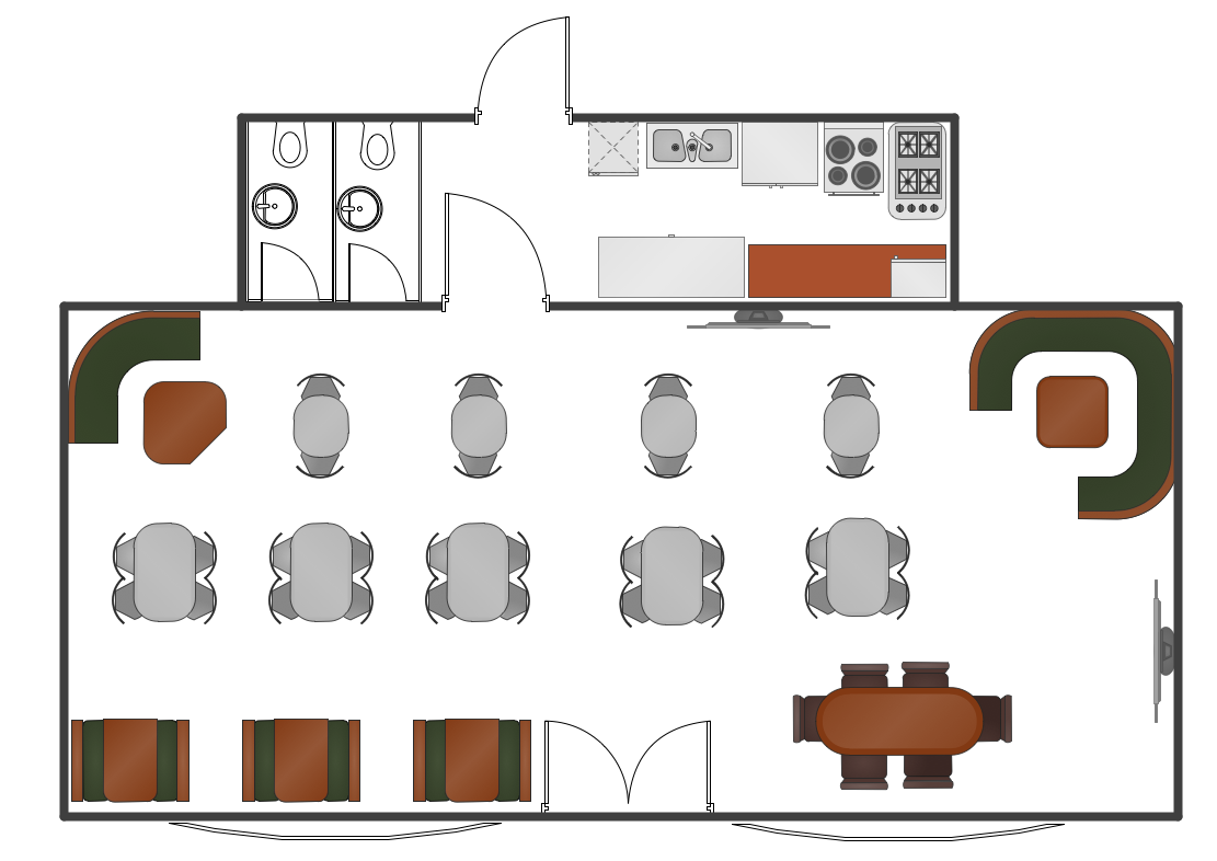 Restaurant Floor Plans Software Design Your Restaurant And Layouts In Minutes With Conceptdraw