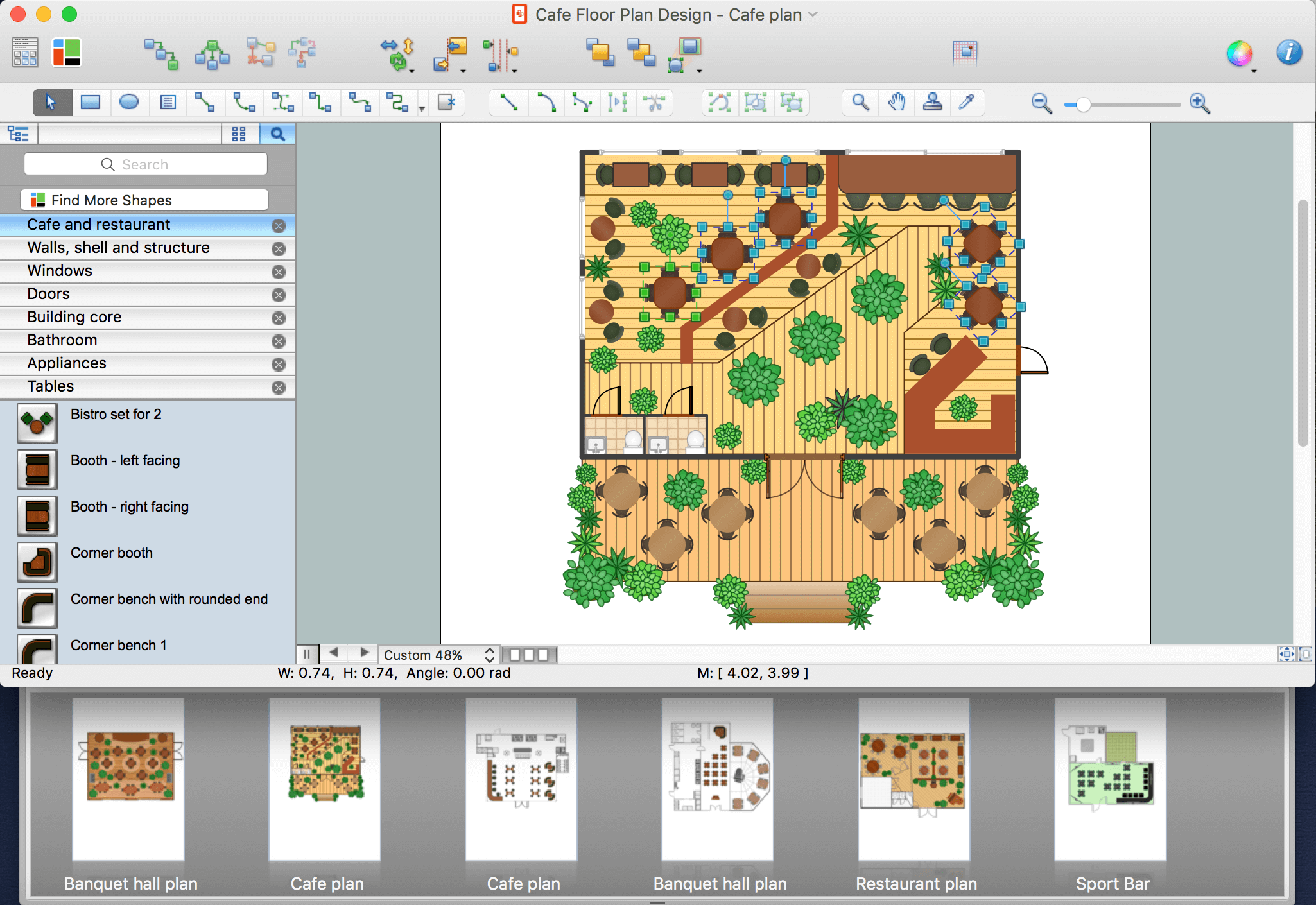 Floor plan software for Restaurant design program