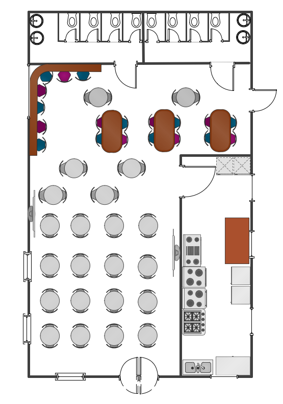 Cafe Floor Plan Example