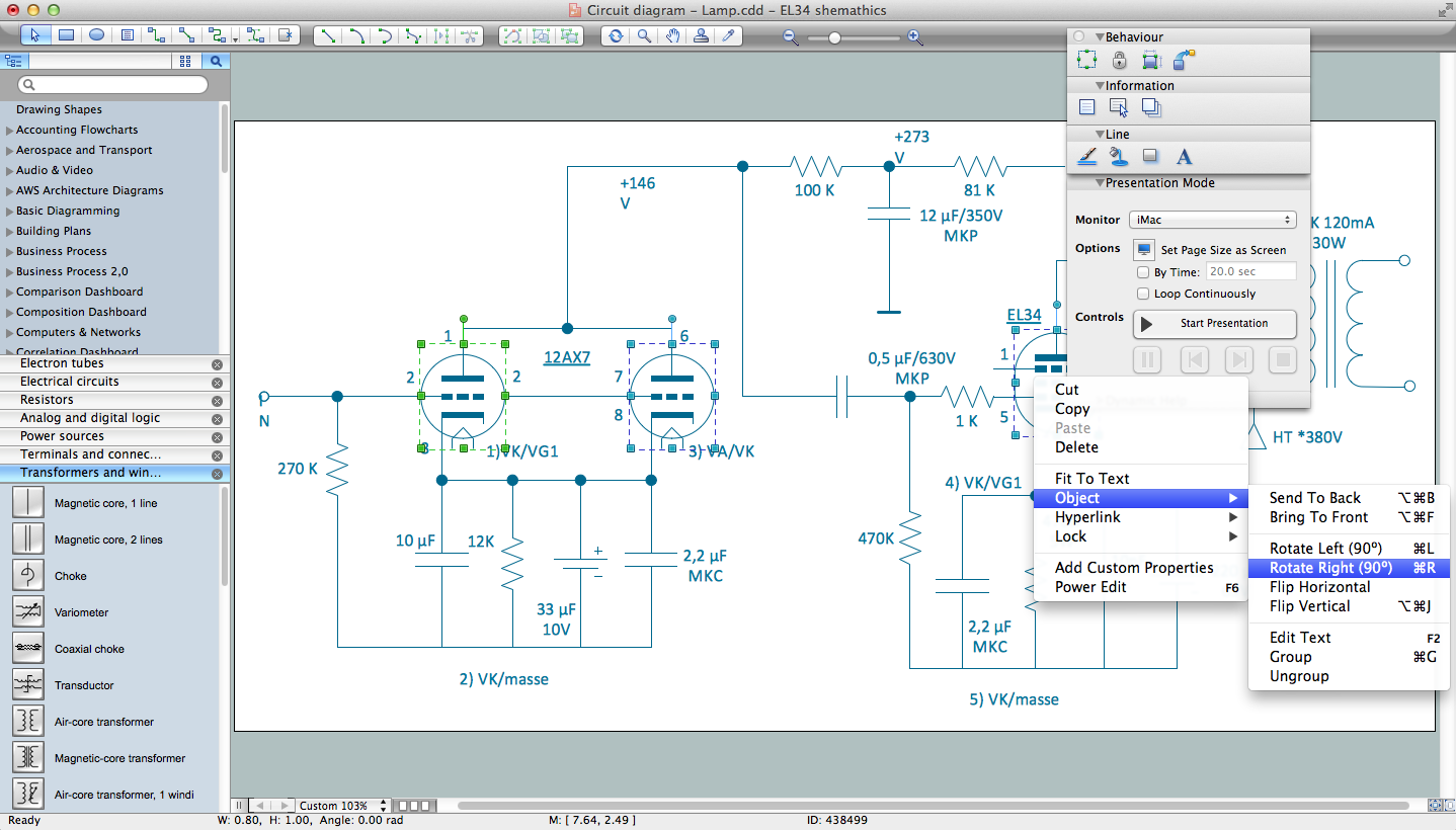 wiring diagram with conceptdraw procircuits and logic diagram software for macintosh os x and windows