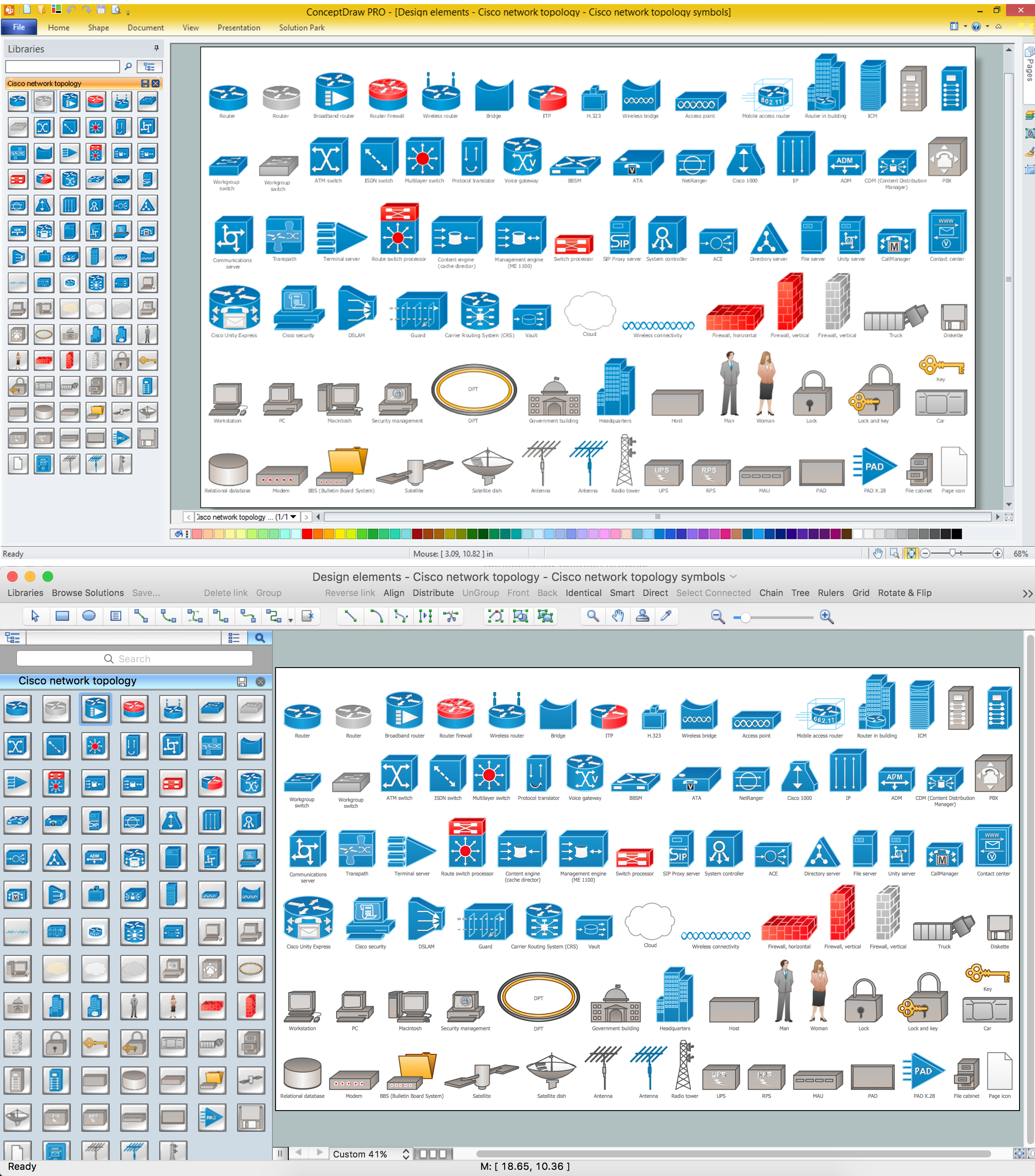 Cisco Network Design. Cisco icons, shapes, stencils, symbols and ...