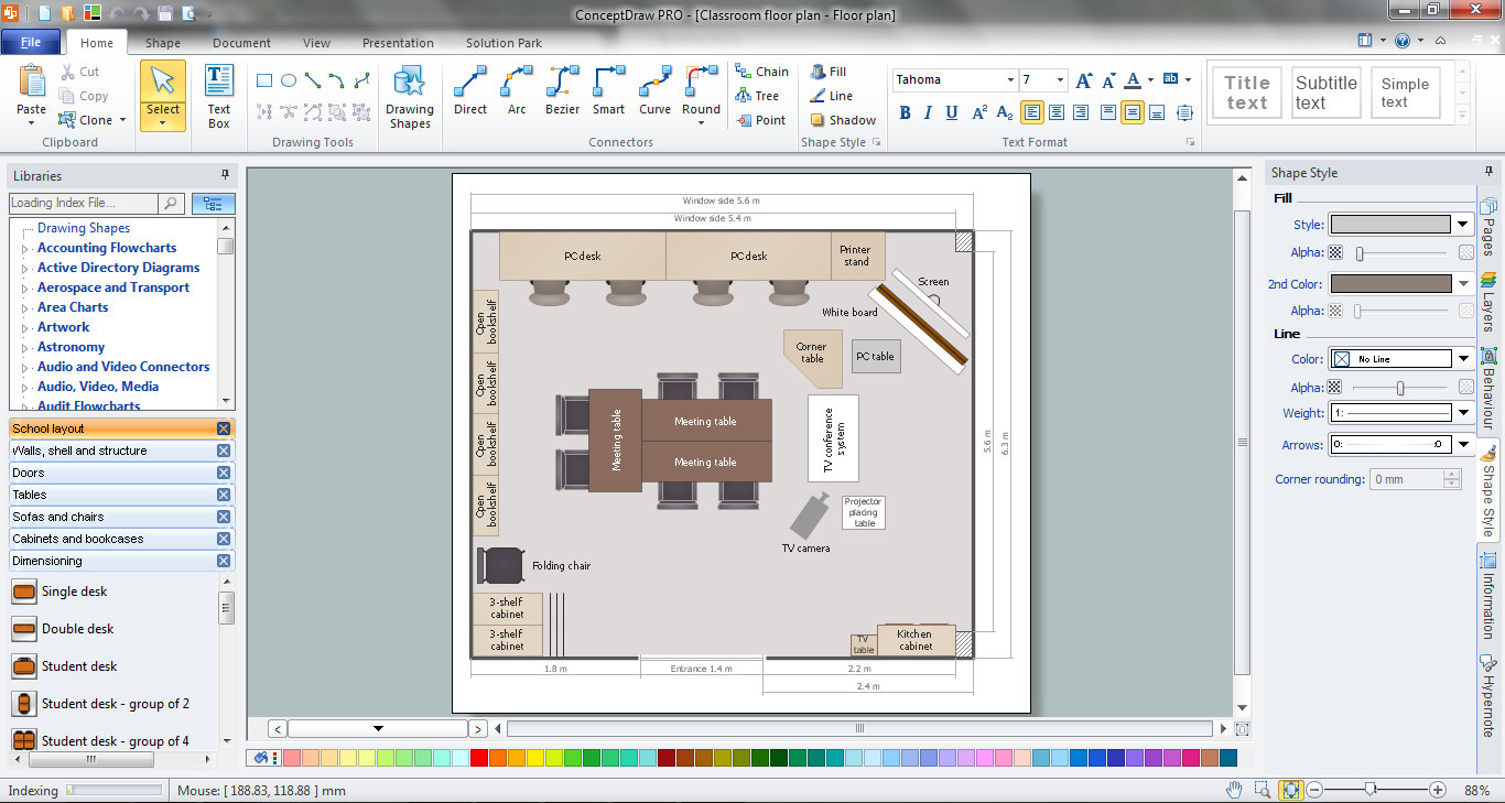 How to create a floor plan for the classroom classroom Home plan creator