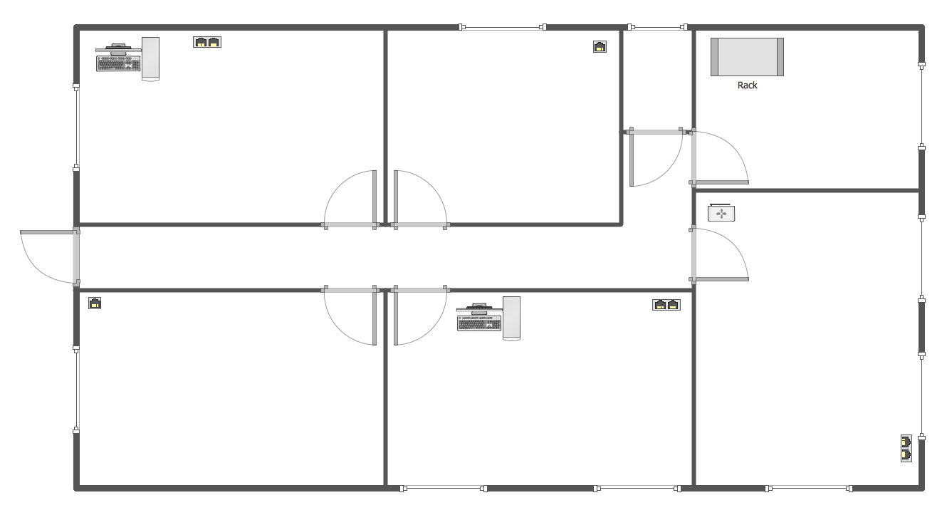 Network layout floor plans design elements network for Sample house floor plan drawings