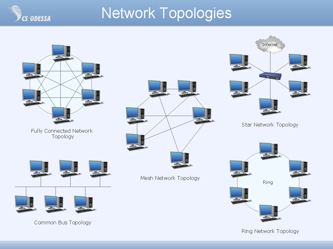 fully connected network topology diagram