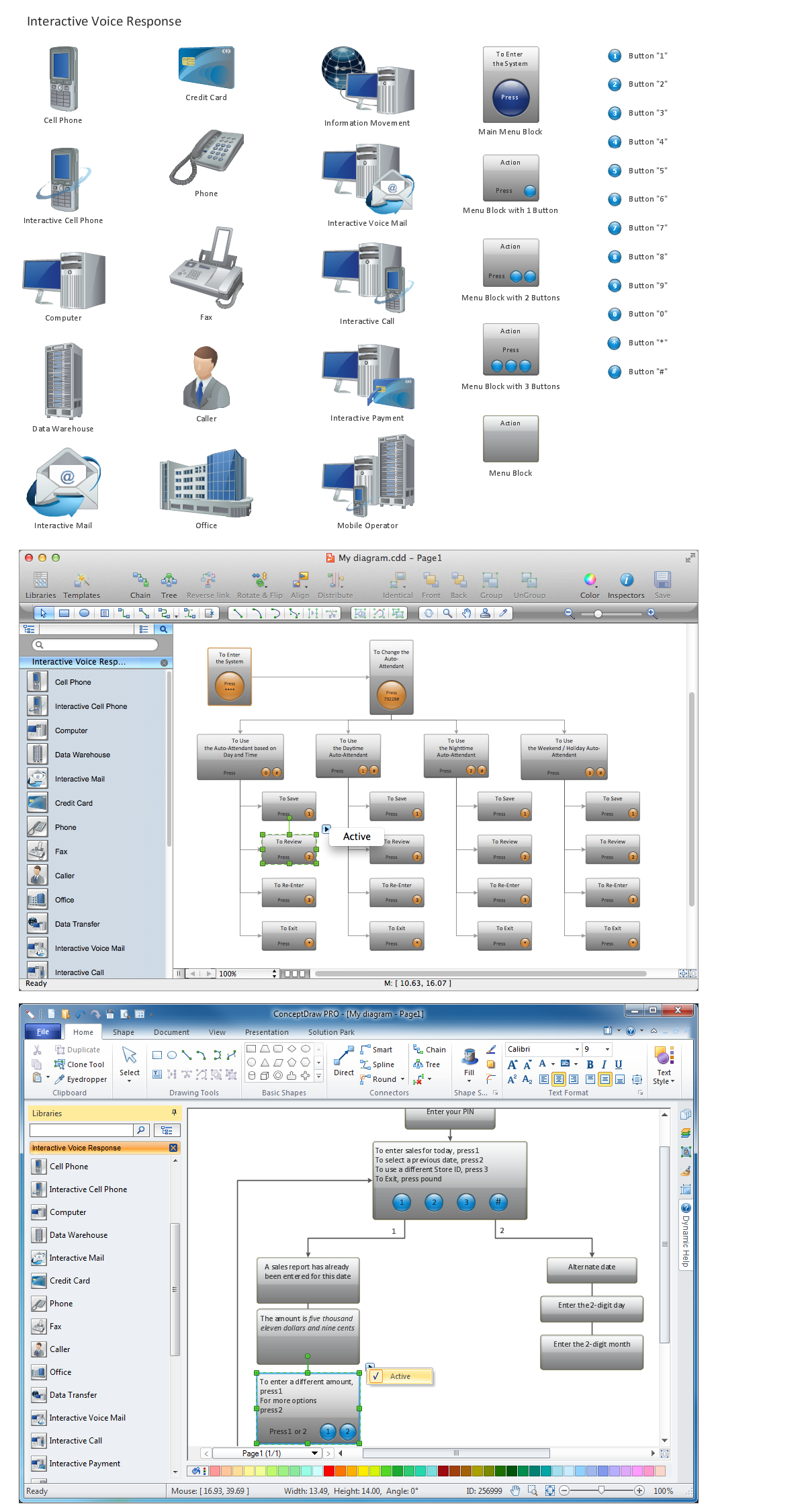 Network Diagramming Software for Design  <br>IVR Network Diagrams *