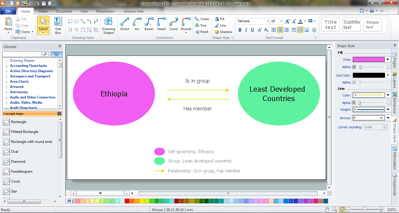 concept map maker get my conceptdraw software - Concept Map Software Free