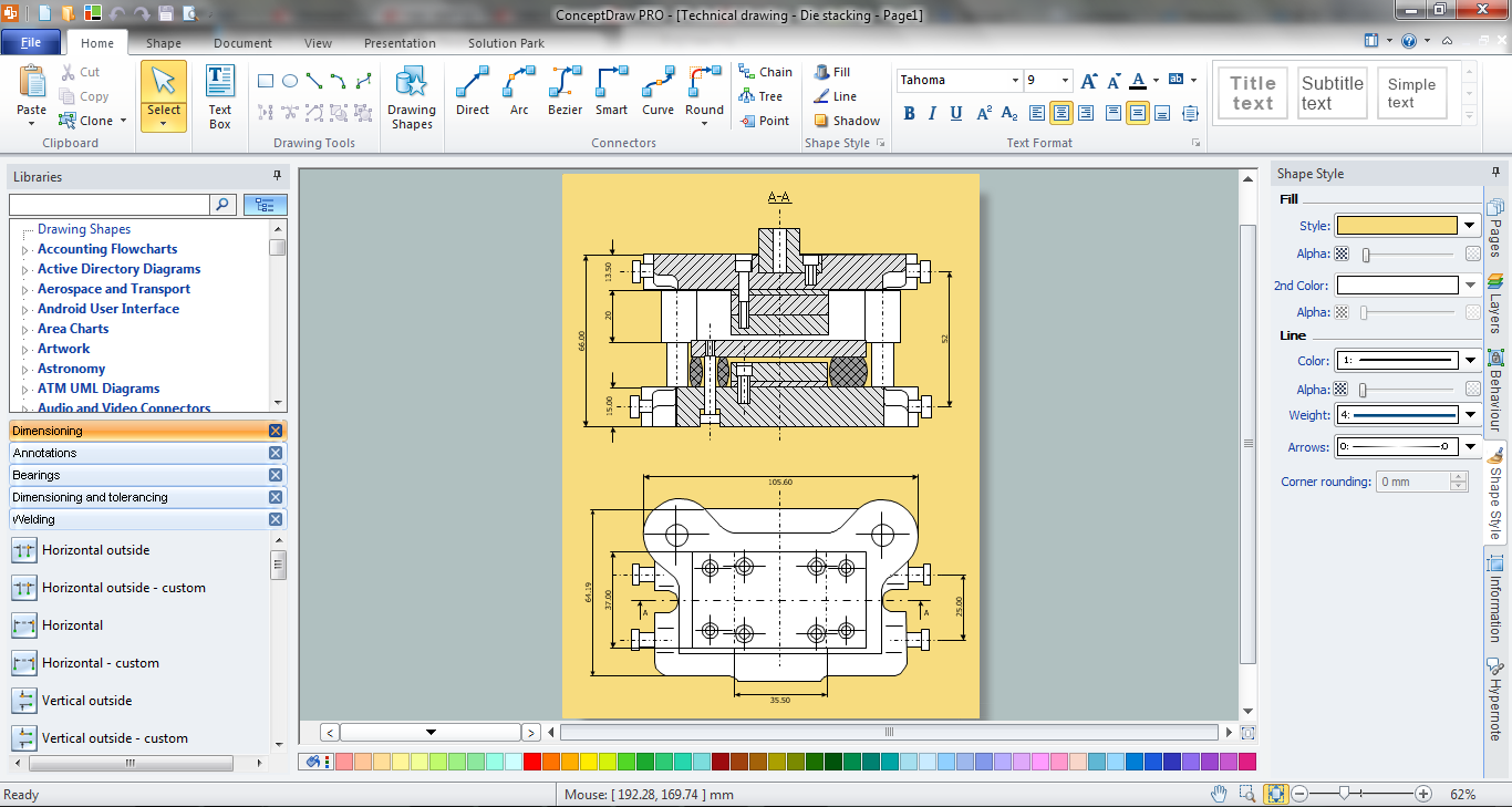 Mechanical engineering mechanical drawing software Art design software