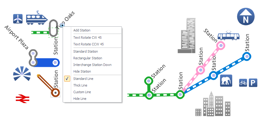 Metro Map Style Subway Infographic Design Elements Software Tools