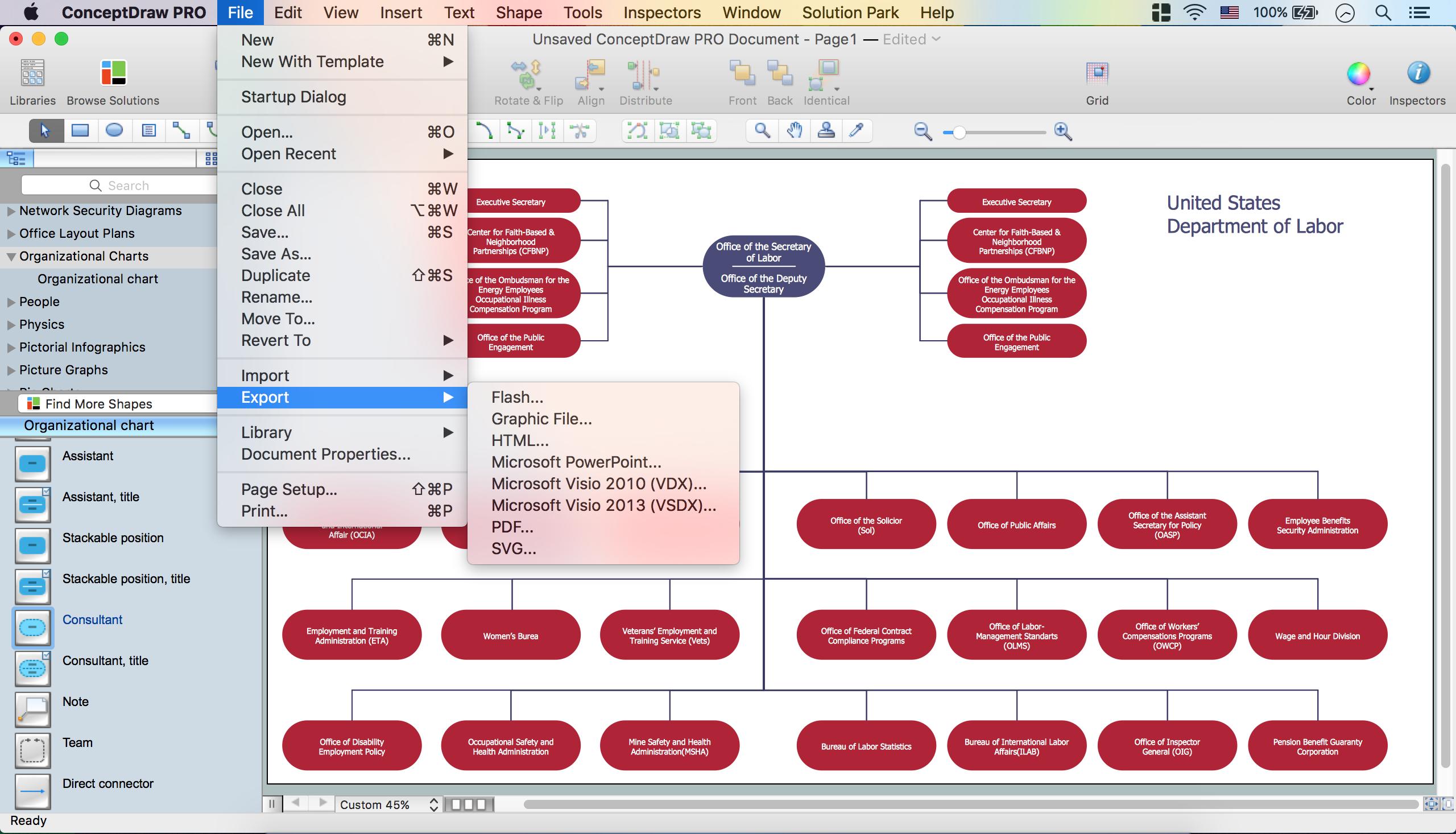 Create Organizational Chart *