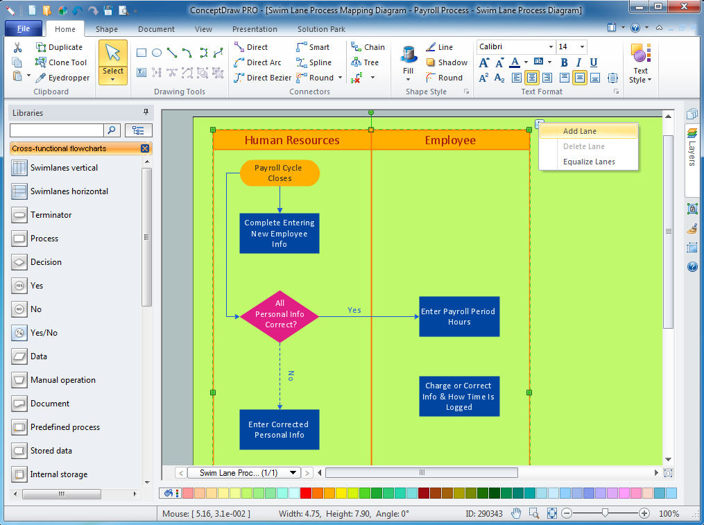 Cross functional flowchart to draw cross functional process maps cross functional flowchart software ccuart Gallery