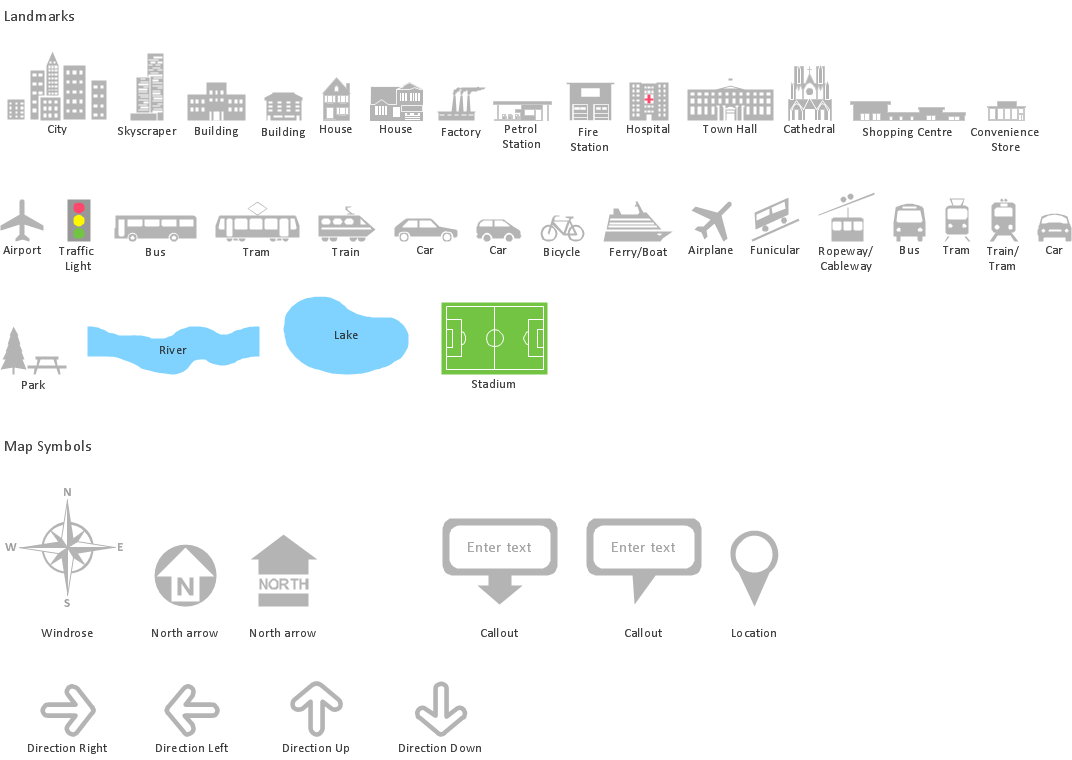 Spatial infographics design elements - Location map