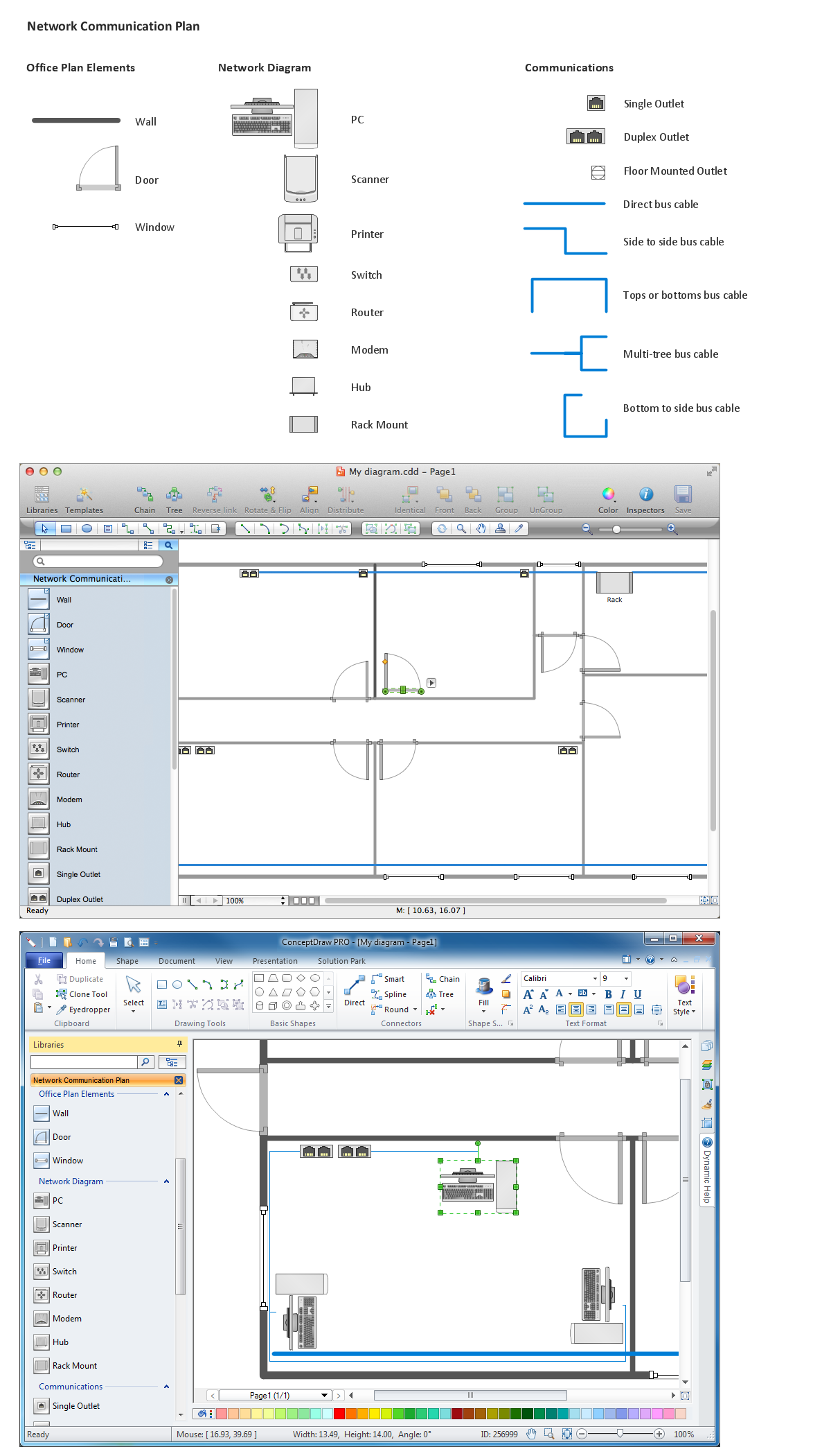 Network Diagramming Software for Design  <br>Network Layout Diagrams *