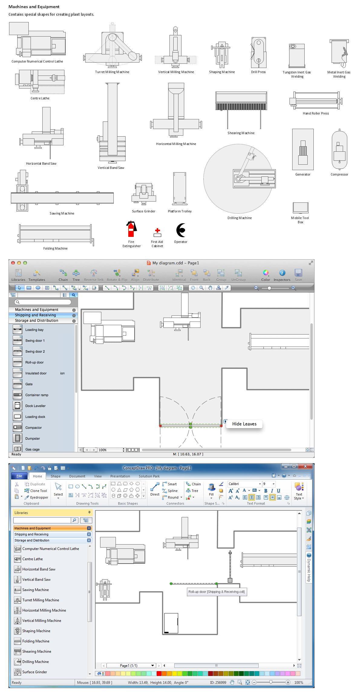Building drawing tools design element machines and for Building layout software