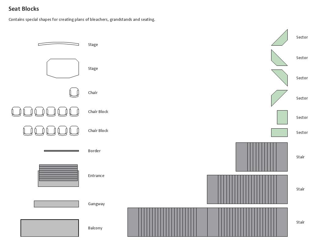 Building Drawing. Seat Blocks
