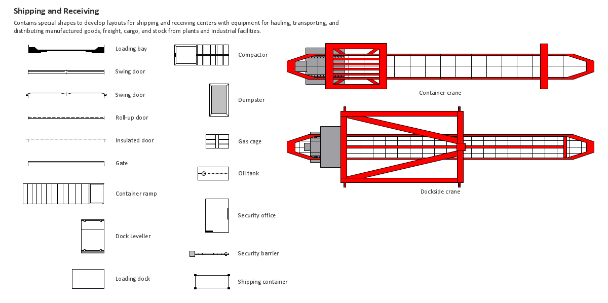 CAD Drawing Software for Making Mechanic Diagram and Electrical Diagram  Architectural Designs | Building Drawing Design Element: Shipping and  Receiving | Building Drawing Software for Design Office Layout Plan | Ship  BuildingConceptdraw.com