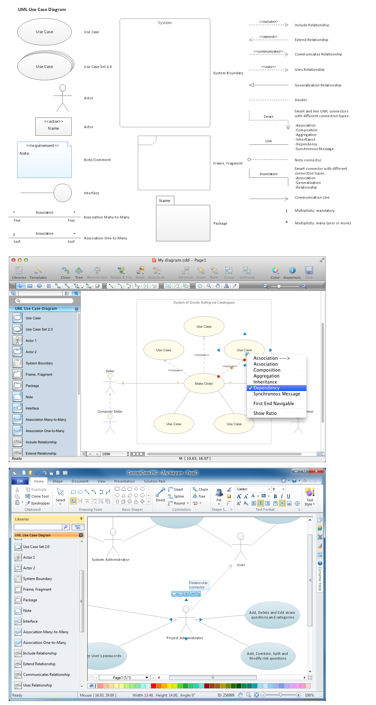 Diagramming Software for Design UML Use Case Diagrams *
