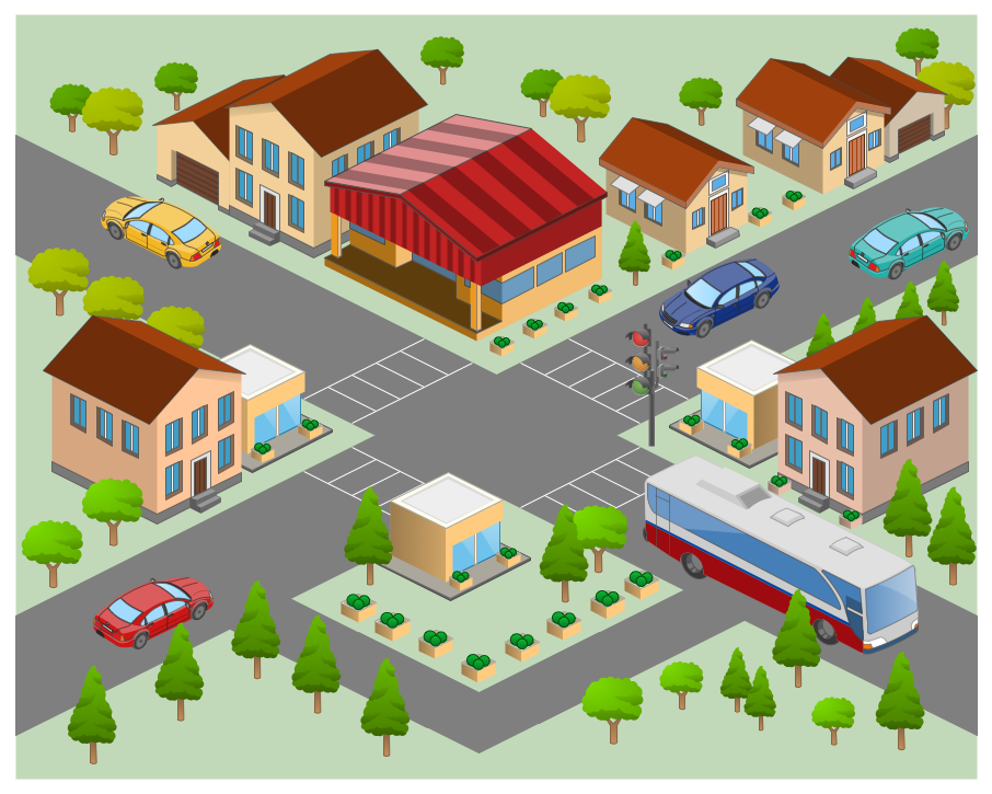 Directional Maps 3d Pictorial Street Map Design