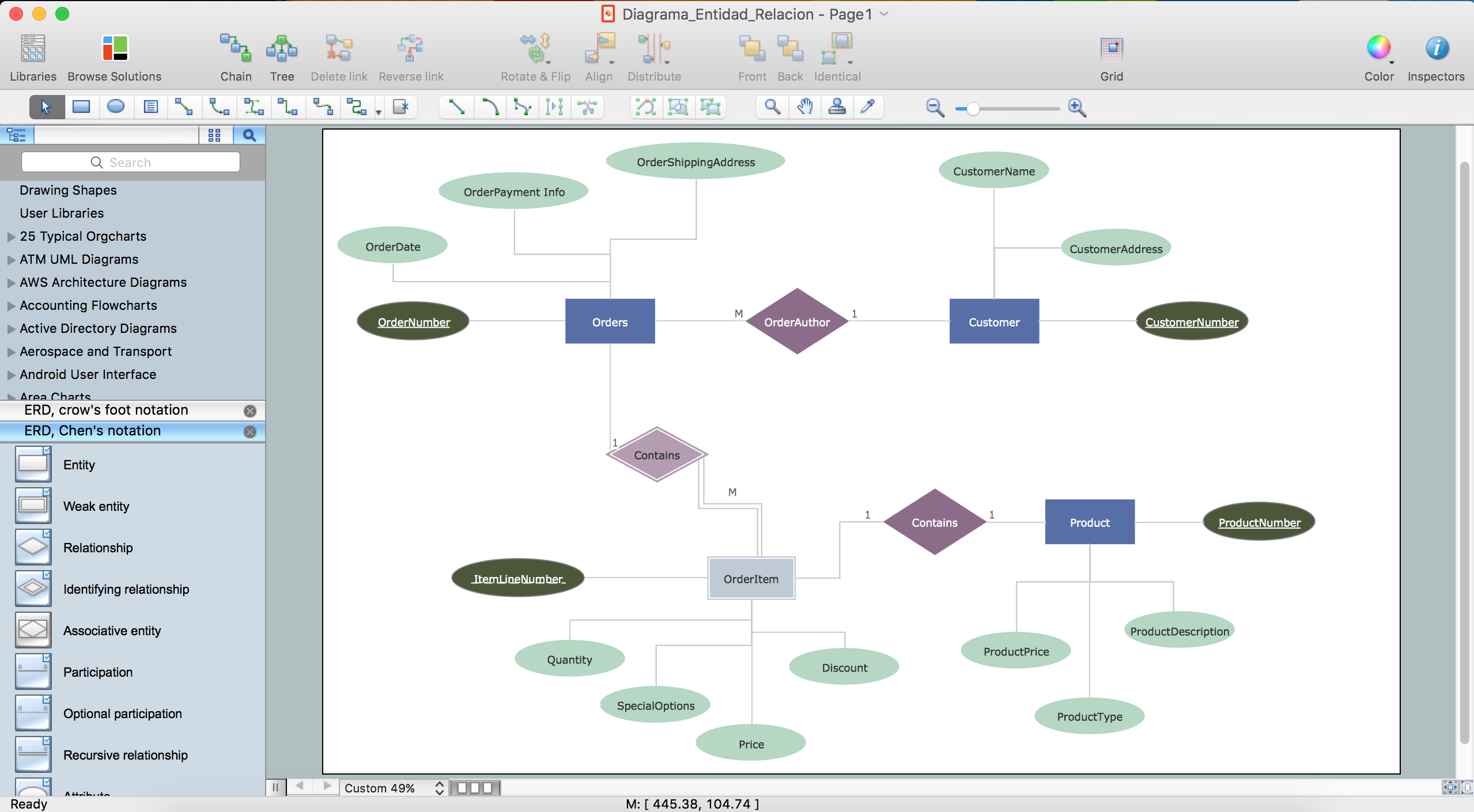 conceptdraw pro database modeling software database