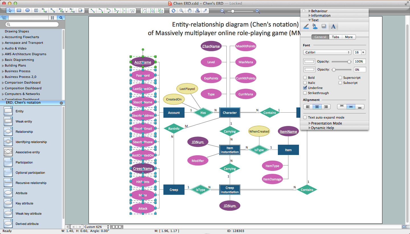 Entity Relationship Diagram Software | Professional ERD Drawing