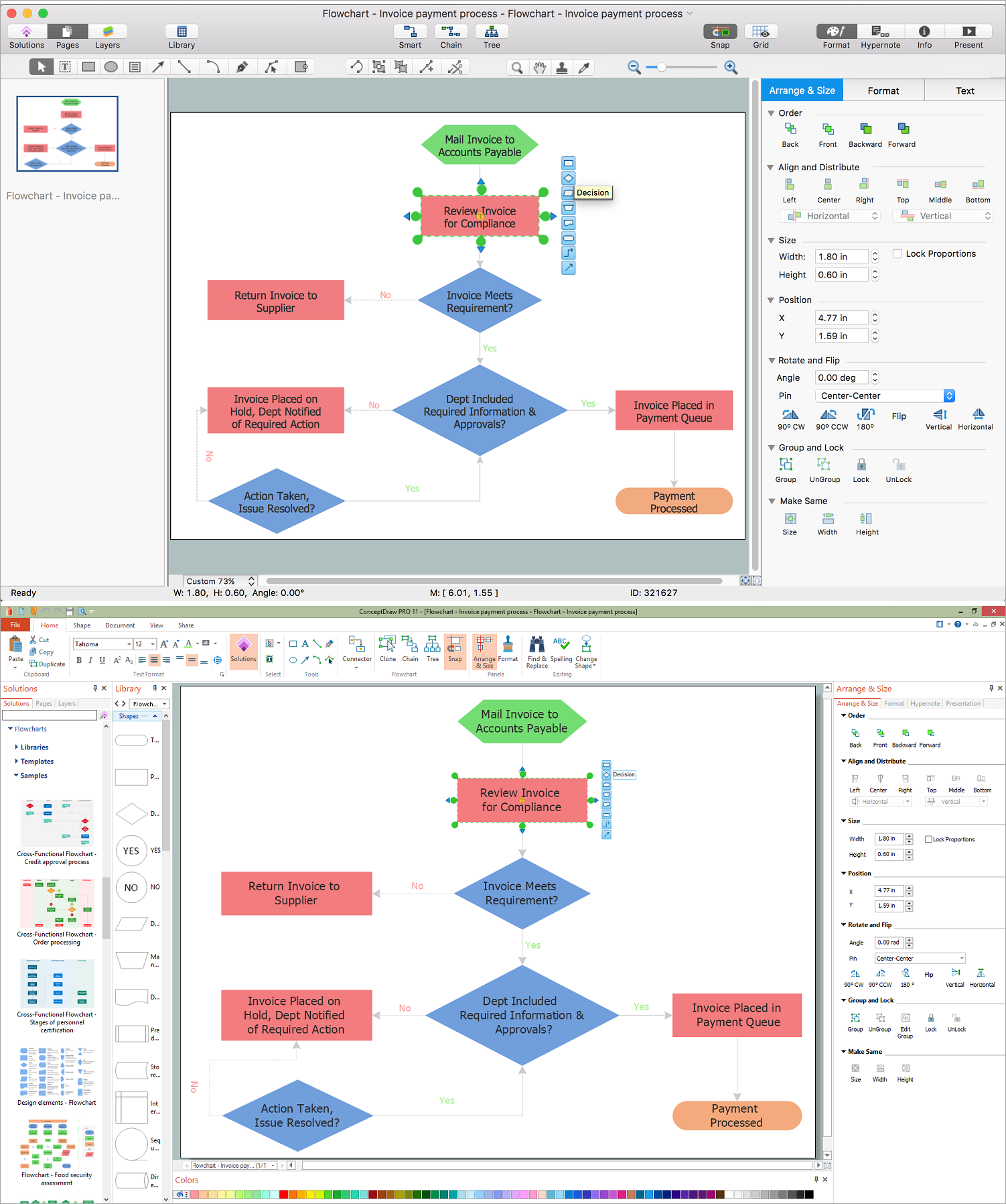 easy flowchart software create flowcharts amp diagrams