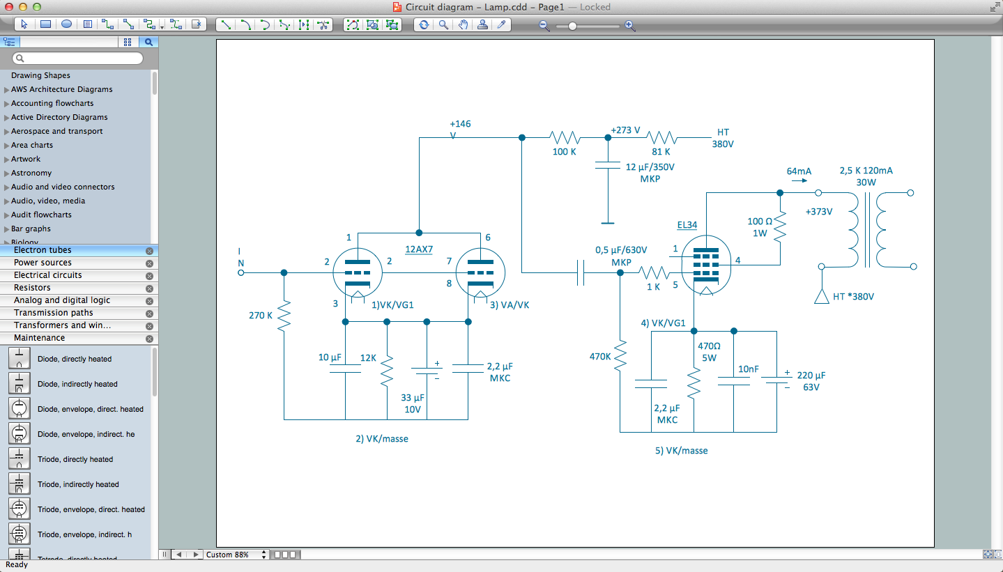 Circuits And Logic Diagram Software This Is A Simple Dryer Wiring That Shows Examples Of Most Electrical Drawing Symbols
