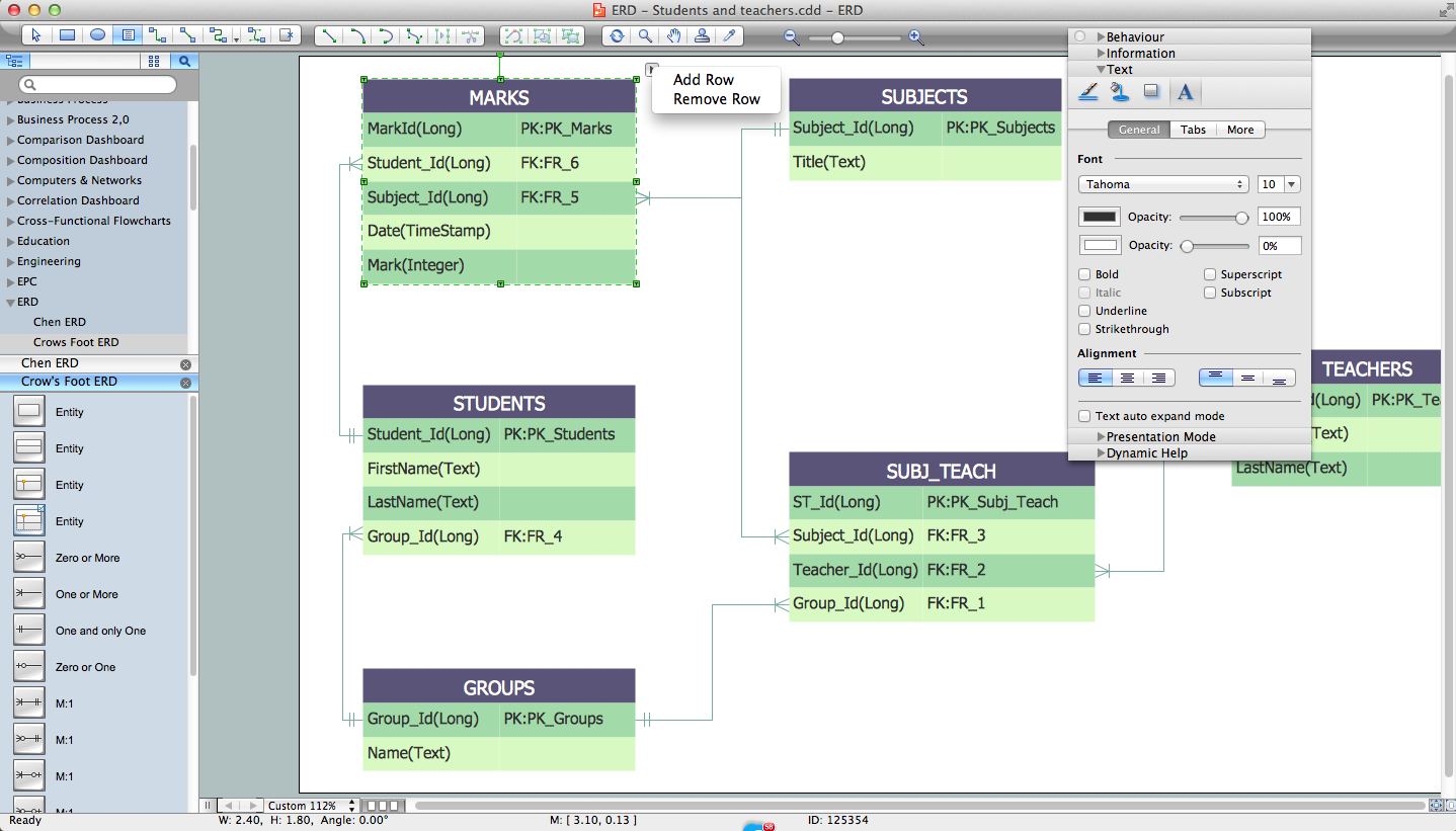 draw entity relationship diagrams er diagrams easily with er  : er diagram generator - findchart.co