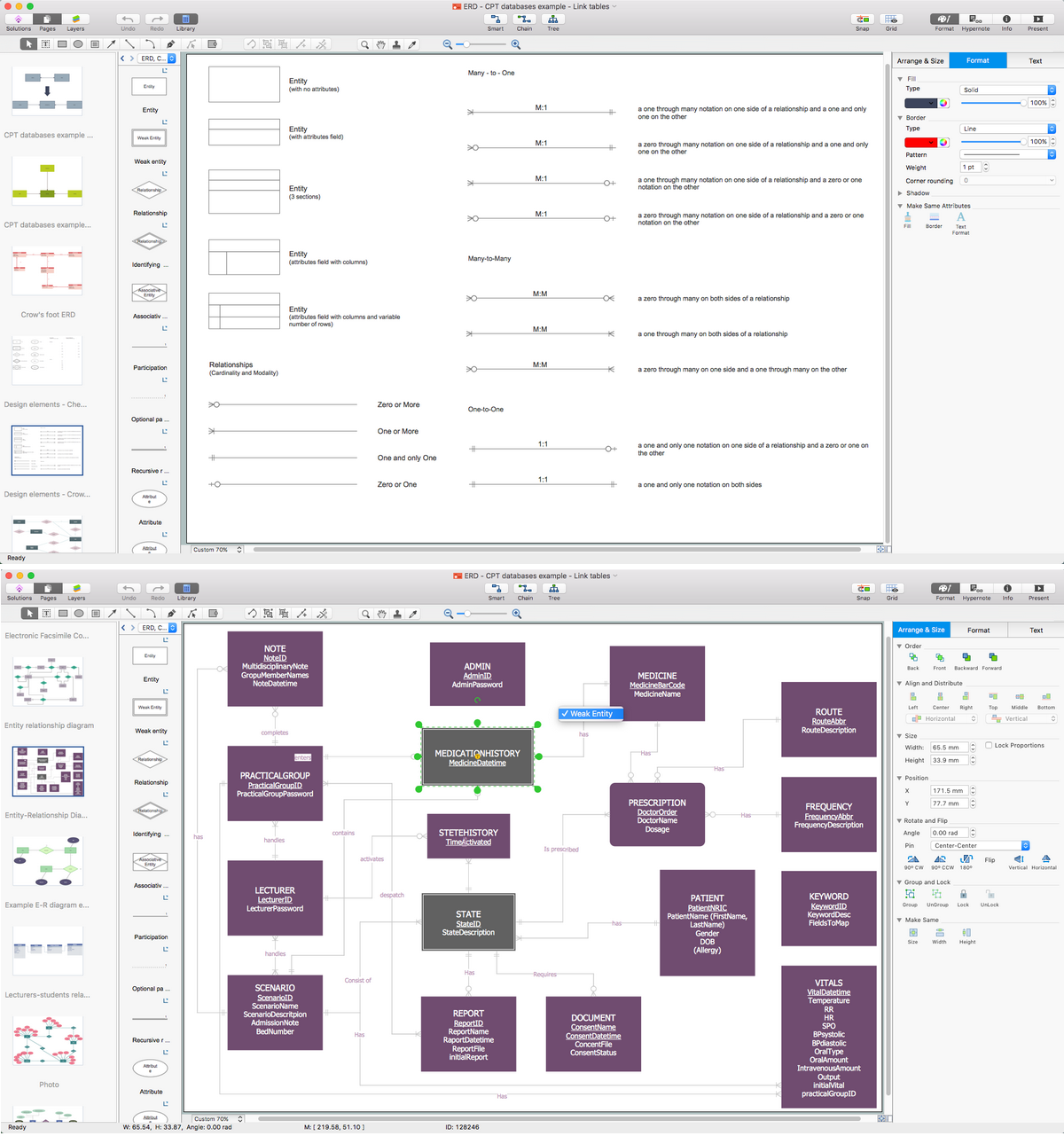 Entity Relationship Diagram Software for Mac | Professional ERD ...