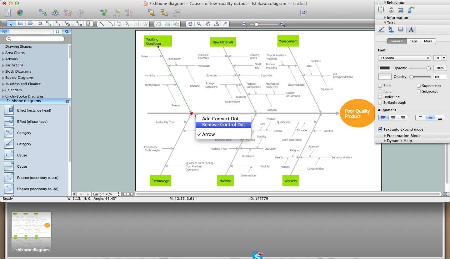 draw fishbone diagram on mac software