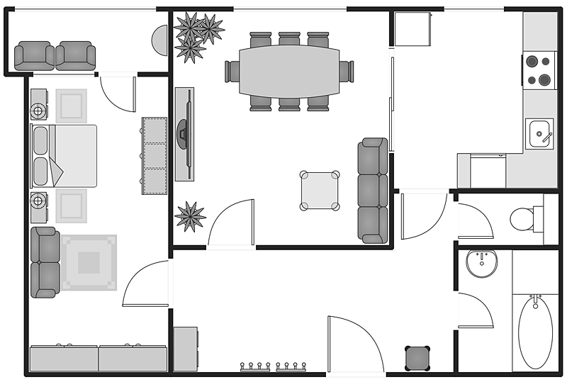 Creating building plan with building plans solution conceptdraw helpdesk Building floor plans