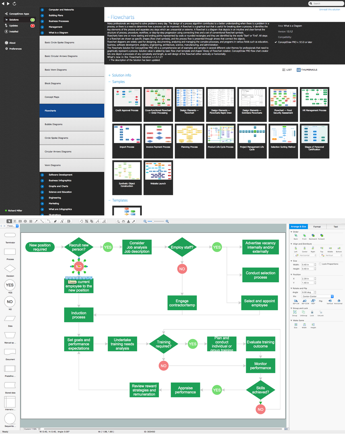 create flow chart on mac | workflow diagram software mac, Powerpoint templates
