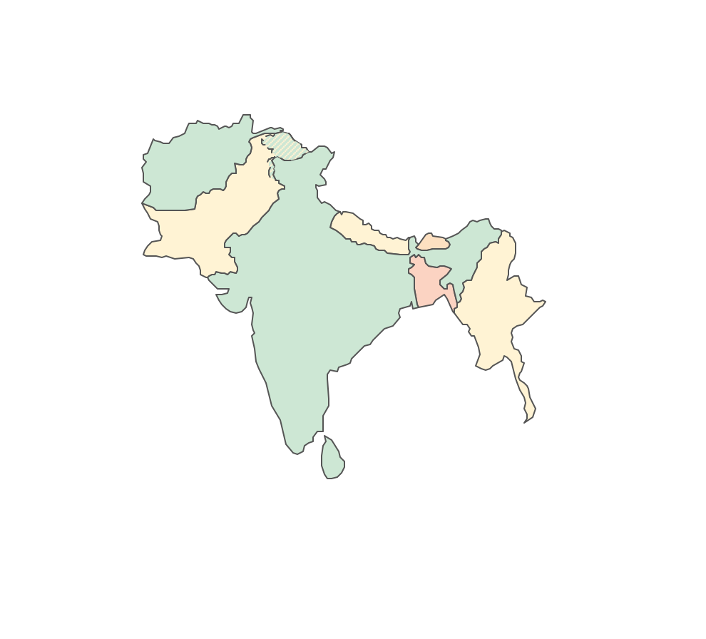 Geo Map - Southern Asia