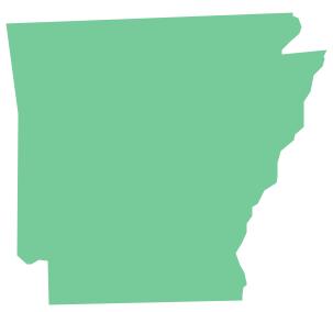 Geo Map - USA - Arkansas *