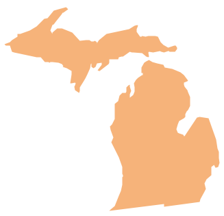 Geo Map — USA — Michigan *