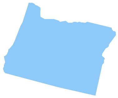 Geo Map - USA - Oregon *