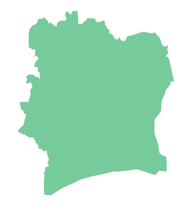 Geo Map - Africa - Cote d'Ivoire